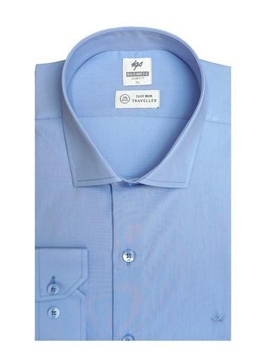 IGS Erkek K.Mavı Regularfıt / Rahat Kalıp 7 Cm Klasık Gömlek Mavi